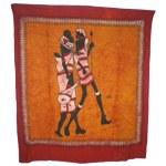Tenture tribale famille masaï