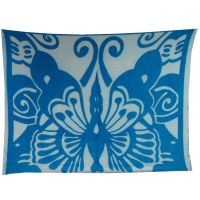 Paréo papillon bleu