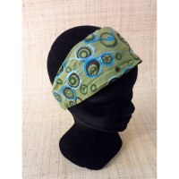 Bandeau cheveux peace and love vert olive