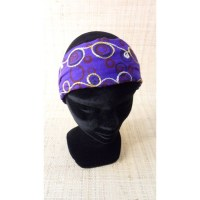 Bandeau cheveux peace and love violet