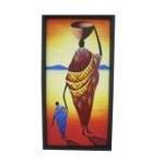 Tableau africain La femme & l'enfant