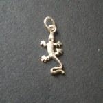 Pendentif argent gecko