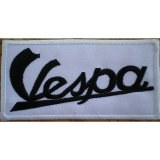 PATCH VESPA BLANC