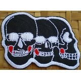 PATCH TRIO DE TETES DE MORT