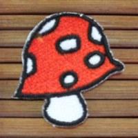 Ecusson champignon rouge