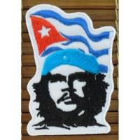 Ecusson Che guevara et drapeau cubain