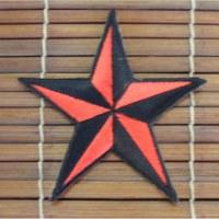 Ecusson étoile rouge et noir