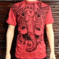 Tee shirt L éléphant rouge