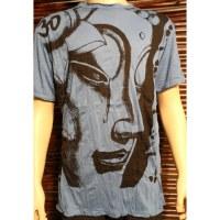 Tee shirt L la larme de Bouddha bleu