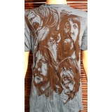 Tee shirt L les Beatles bleu
