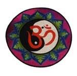 Ecusson yin yang et Om