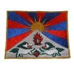 Ecusson drapeau du Tibet
