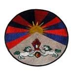 Ecusson drapeau du Tibet rond