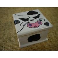 Boite carrée 2 vache