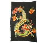 Paréo dragon vert boules de feu