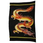 Paréo dragon rouge et jaune