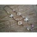 Colliers en perles, coquillages, perles en bois, sautoirs