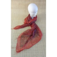 Foulard Hyderabad rouge ponceau