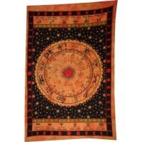Tenture noire et orange astrologia