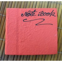 Petit carnet rouge papier naturel