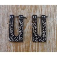 Boucles d'oreilles tribales volute