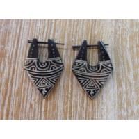 Boucles d'oreilles tribales visage