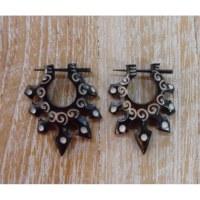 Boucles d'oreilles tribal solar
