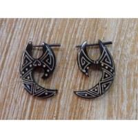 Boucles d'oreilles tribales hallebarde