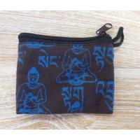 Porte-monnaie marron Bouddha