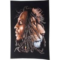 Tenture Bob Marley le lion