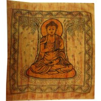 Maxi tenture Bouddha sous l'arbre Bodhi