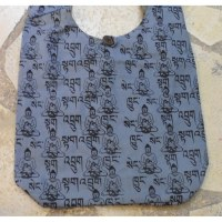 Besace Bouddha sanskrit gris
