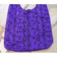 Besace Bouddha sanskrit violet