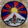 Écussons du drapeau tibétain, patchs drapeaux du Tibet