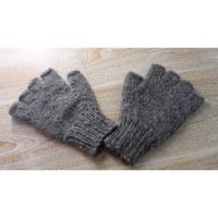 Mitaines en laine grises