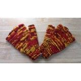 Mitaines en laine multicolore flammé