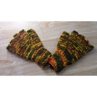 Mitaines en laine multicolore automne