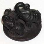 Porte-encens éléphants terre cuite Népal