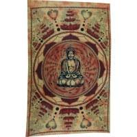 Tenture Bouddha lotus