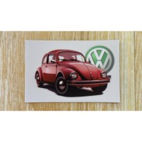 Aimant coccinelle Volkswagen rouge