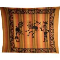 Maxi tenture rayée danse tribale