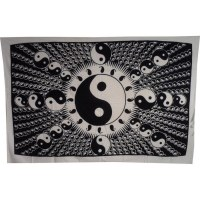 Tenture full yin yang 2 blanc et noir