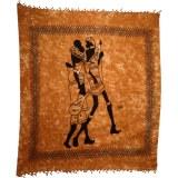 Maxi tenture balade africaine marron