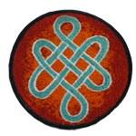 Ecusson noeud infini tibétain