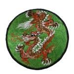 Ecusson dragon vert