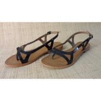 Sandales Tropéziennes Isatis noir