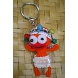Porte clés Otéa la danseuse orange
