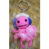 Porte clés poupée Lolita rose