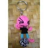 Porte clés poupée asian footballeur