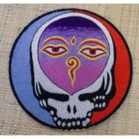 Ecusson crâne les yeux de bouddha GM